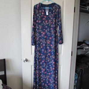 NWT Express maxi dress long sleeve